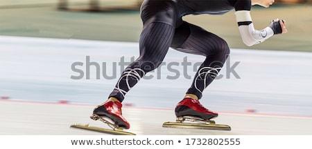 человека костюм Skate моде модель Сток-фото © deandrobot