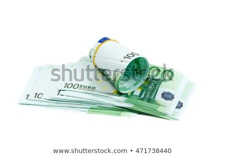 denominations 100 euros rolls isolate on white stock photo © ruslanomega