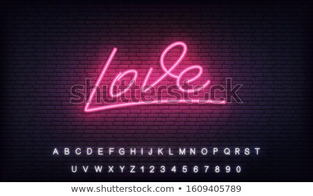 Glowing Neon 14 February Stock photo © Voysla