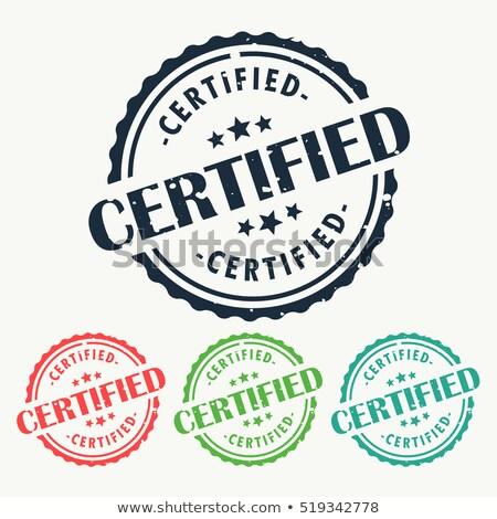 certificado · branco · etiqueta · membro · borracha - foto stock © sarts