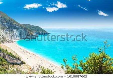 egzotik · plaj · mavi · gökyüzü · harika · güneş - stok fotoğraf © ankarb