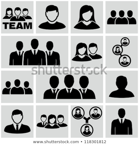 Businessman face icon sign. Manager head. Vector illustration Stock photo © MaryValery