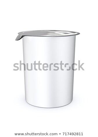 Charakteristisch Kunststoff Tasse geschlossen 3D-Darstellung weiß Stock foto © magann