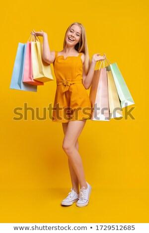 Teen Girls Shop Sale Discounts Stock photo © lenm