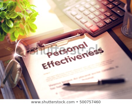 Clipboard with Personal Effectiveness. 3D Render. Stock photo © tashatuvango