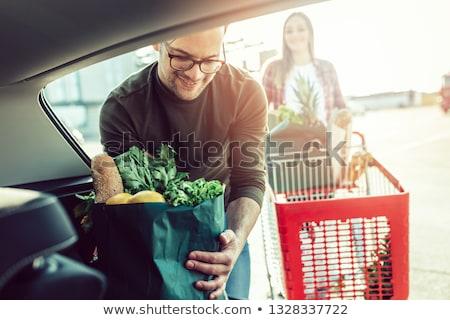 permanente · auto · buiten · huis · vrouw - stockfoto © is2