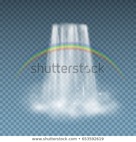 Waterfall and rainbow isolated. Natural Pure Water. Rivers and W Stock photo © MaryValery