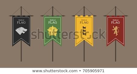 Medieval Green Royal Banner Flag Stock photo © Krisdog