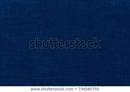Sötét kék vászon közelkép kilátás szövet Stock fotó © LightFieldStudios