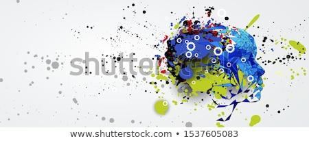 Virus and human brain Stock photo © bluering
