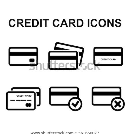 Debit hitelkártya vektor ikon terv szín Stock fotó © rizwanali3d
