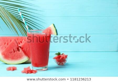 görögdinnye · dzsúz · gyümölcs · stúdió · hideg · édes - stock fotó © m-studio