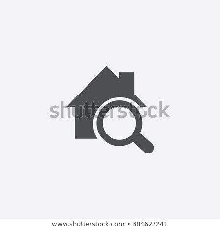 maison · recherche · icône · maison · immobilier · cartoon - photo stock © carbouval