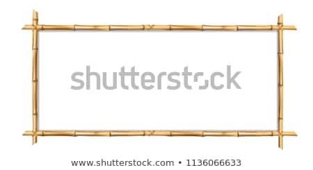 Bamboo frame template for tropical signboard. Stock photo © LoopAll