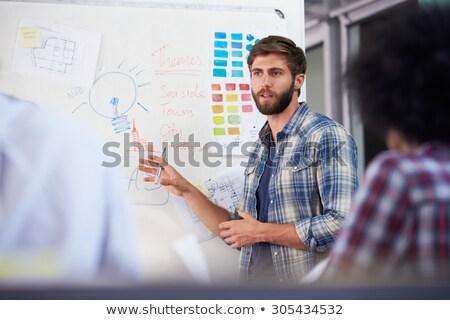 creative team at presentation in office stock photo © dolgachov