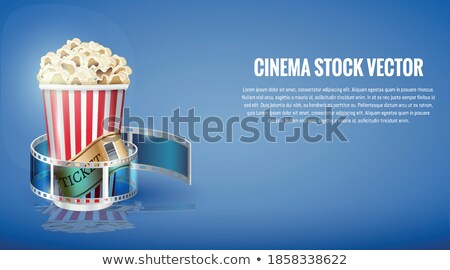 Popcorn Banner and Text Sample Vector Illustration Stock photo © robuart