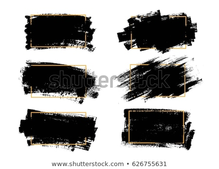 Foto stock: Vector Brush Strokes For Grunge Backgrounds