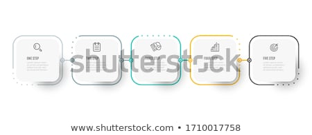 Business infographics thin lines template concept. Icons for your product or design, web and mobile  Stock photo © Linetale