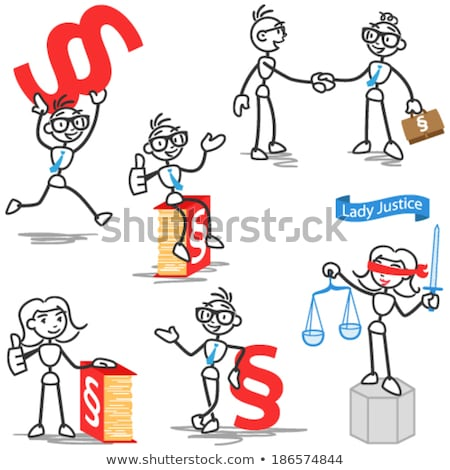 Stick figures with letters and competence Stock photo © Ustofre9