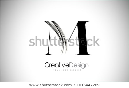 circle logo letter m sign vector element stock photo © blaskorizov