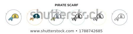 Pirata barco tópico imagem homem mar Foto stock © clairev
