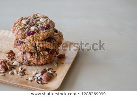 tahıl · kurabiye · tohumları · ahşap · masa · gıda - stok fotoğraf © szefei