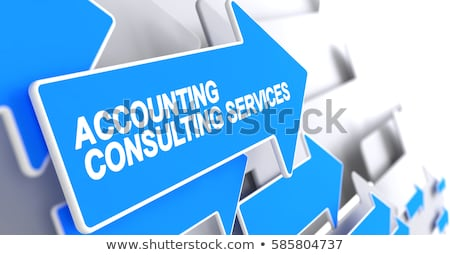 Consultancy Services - Inscription on the Blue Pointer. 3D. Stock photo © tashatuvango