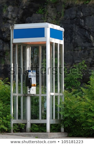 Telefone cabine vidro porta ilustração fundo Foto stock © colematt