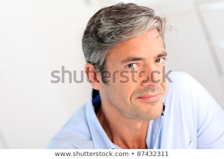 Nice Portrait of attractive 40 year old man Stock photo © Lopolo