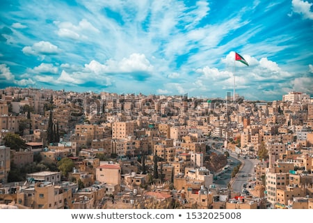 Domu banderą Jordania rząd biały domów Zdjęcia stock © MikhailMishchenko