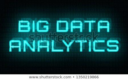バイナリコード データ 分析論 センター 抽象的な 背景 ストックフォト © Zerbor