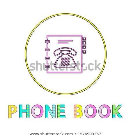 電話 図書 明るい リニア アイコン 電話 ストックフォト © robuart