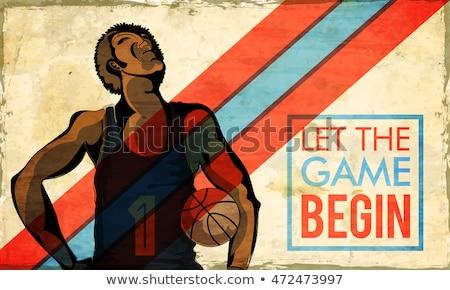 баскетбол · плакат · вектора · мяча · дизайна · спорт - Сток-фото © netkov1