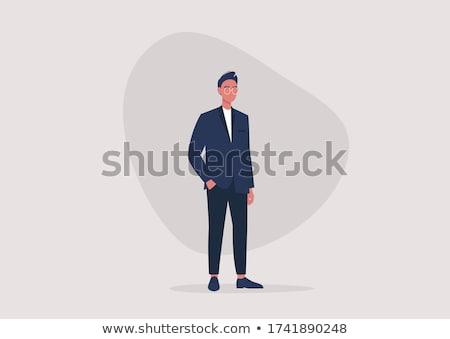 Zakenman formeel dragen uitvoerende werknemer glimlachend Stockfoto © robuart