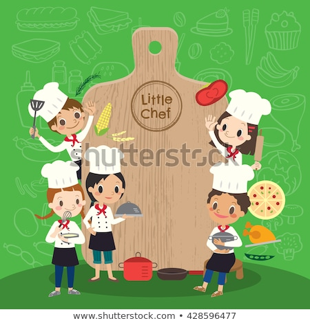 Man Chef Cookware Illustration Stock photo © lenm