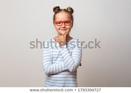 genç · doğal · güzellik · kız · moda · gözlük · güzel · kız - stok fotoğraf © elenabatkova