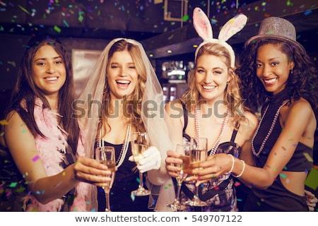 Female Friend Enjoying Bachelorette Party Stock photo © AndreyPopov