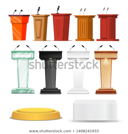 different debate rostrum and podium set vector stock photo © pikepicture