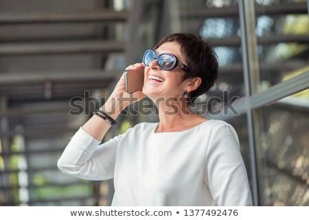 Frauen sprechen weiblichen Chat Wolken Stock foto © robuart