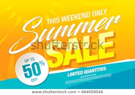 yellow summer sale sun background Stock photo © SArts