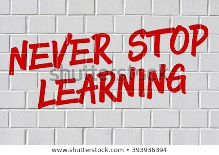 決して 停止 学習 白 やる気を起こさせる 教育 ストックフォト © tashatuvango
