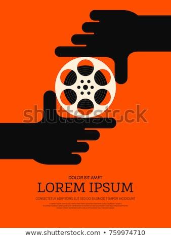 Tiyatro film grafik tasarım şablon vektör soyut Stok fotoğraf © haris99