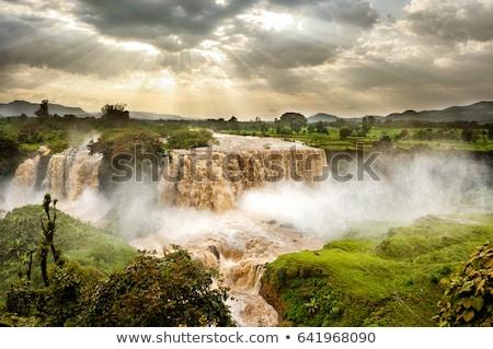 Blauw Ethiopië mooie water drogen Stockfoto © artush