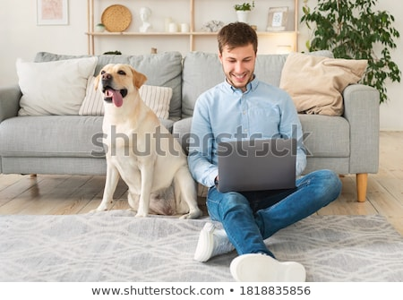 Man working from home in teleworking concept Stock photo © Elnur