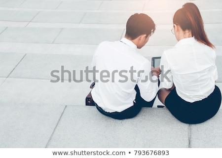 business · afbeelding · jonge · zakenman · werken · moderne - stockfoto © Freedomz