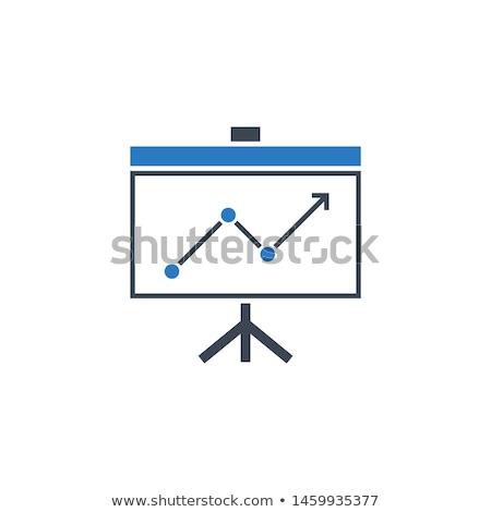 presentation bilboard related vector glyph icon stock photo © smoki
