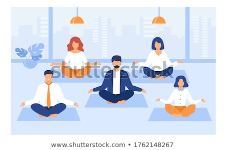 Stock photo: Group of people practicing yoga