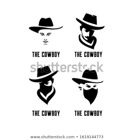 Teksas maskot toplama ikon örnek kafa Stok fotoğraf © patrimonio
