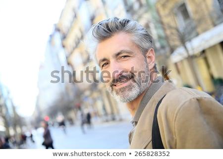 Knap volwassen man stad volwassen knappe man grunge Stockfoto © Lopolo