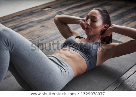 çalışmak çekici kadın atlet egzersiz karın Stok fotoğraf © Jasminko